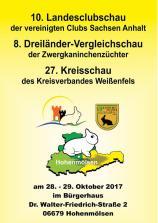 Plakat zur 10. Landes-Clubschau der Kaninchenzüchter in Hohenmölsen