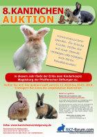 Plakat zur 8.Kaninchenauktion