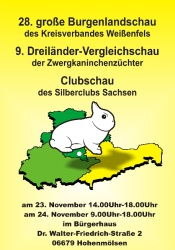 Plakat zeigt ein Hermelin im Dreiländereck zur 28. Burgenlandschau